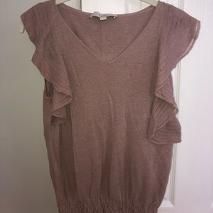 pink top from Loft